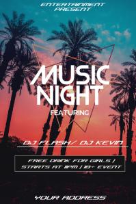 Club night flyer template Plakkaat