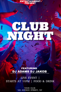 Club night party night flyer template