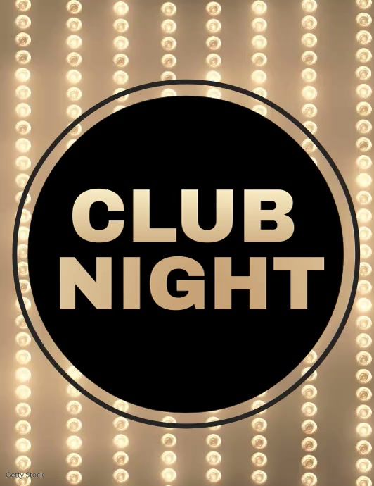 Club Night Video, Party Video, Electro Night Video, Flyer (US-Letter) template