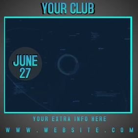 CLUB PARTY AD SOCIAL MEDIA TEMPLATE
