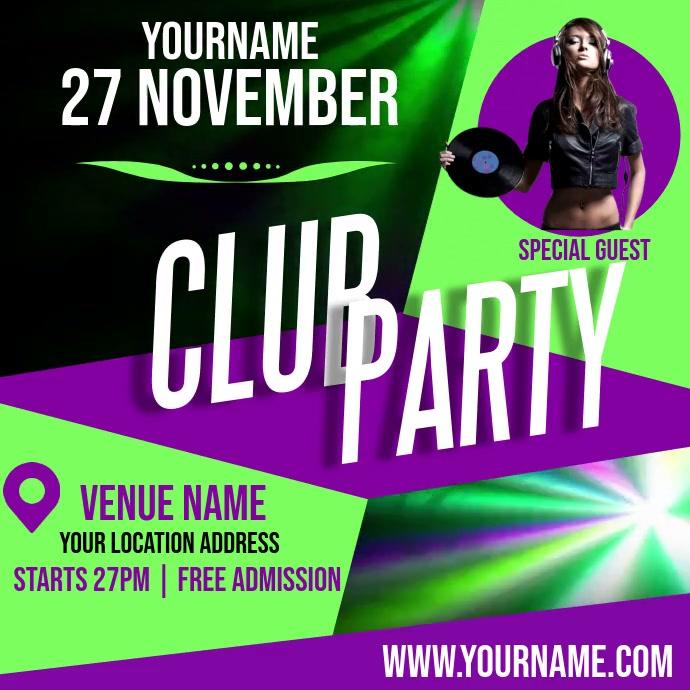 CLUB PARTY AD TEMPLATE Ilogo