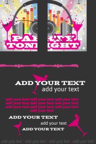 Club Party Disco DJ Dance Martini Night Flyer Poster