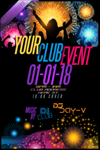 Club Party Event Venue College Bar Celebrate New Year Music