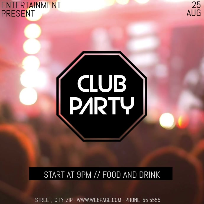 Club party event video flyer template