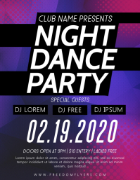 Club Party Flyer Template Design