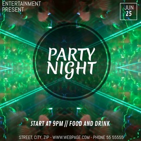 Club party flyer template
