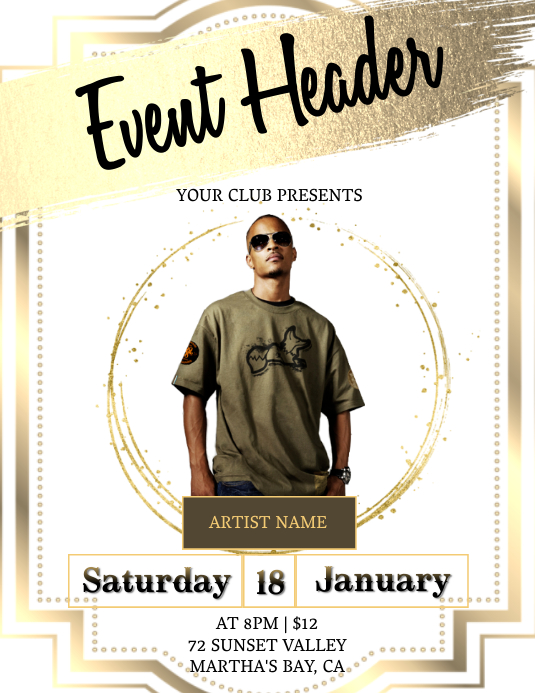 CLUB party invitation Template