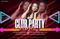CLUB PARTY NIGHT Poster template