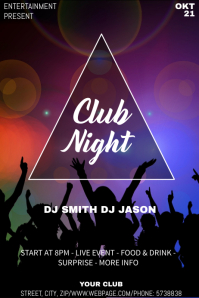 Club party night event flyer template