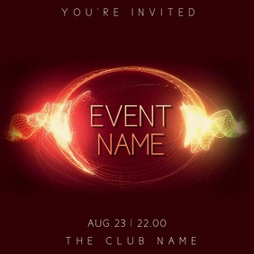 Club Party Night Event Video Template Instagram Post