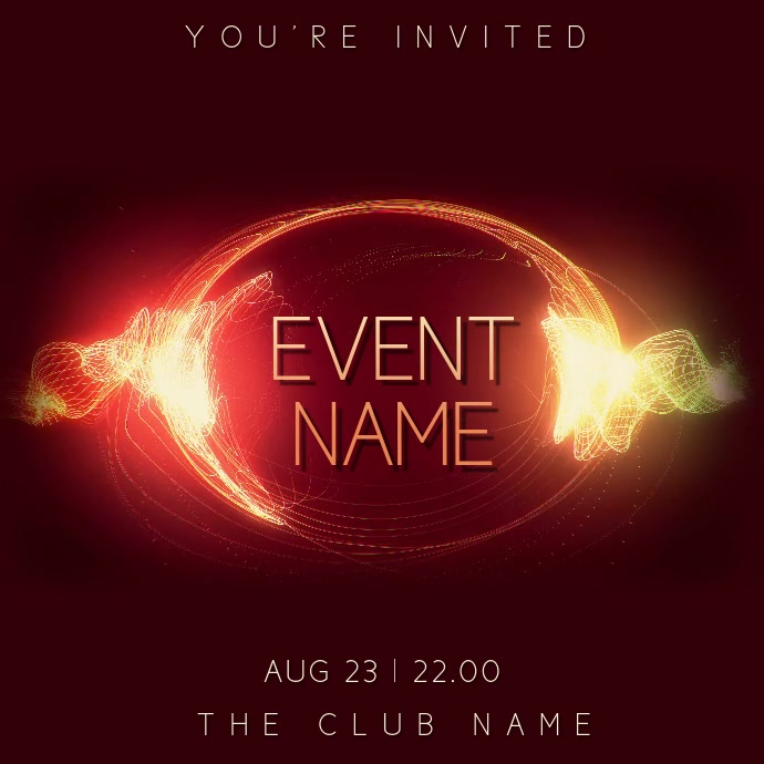 Club Party Night Event Video Template Instagram-opslag