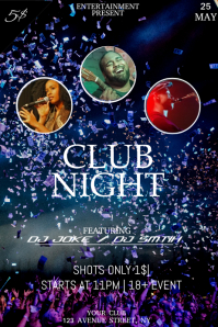 club party night flyer template