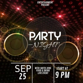 Club party video flyer template