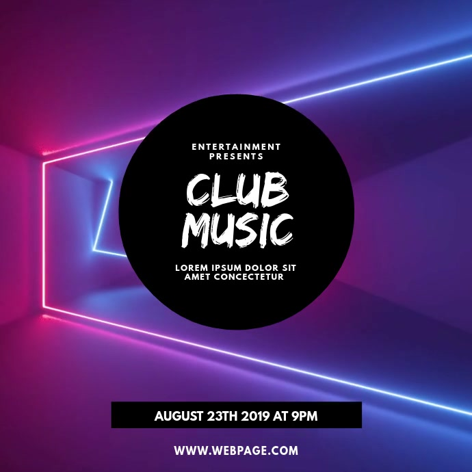 Club party video template