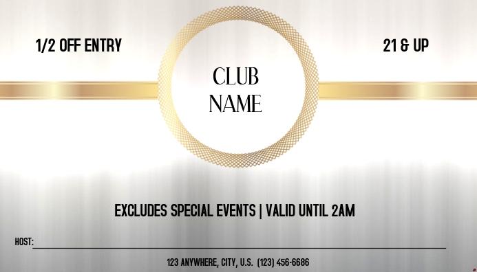 CLUB PASS Visitkort template