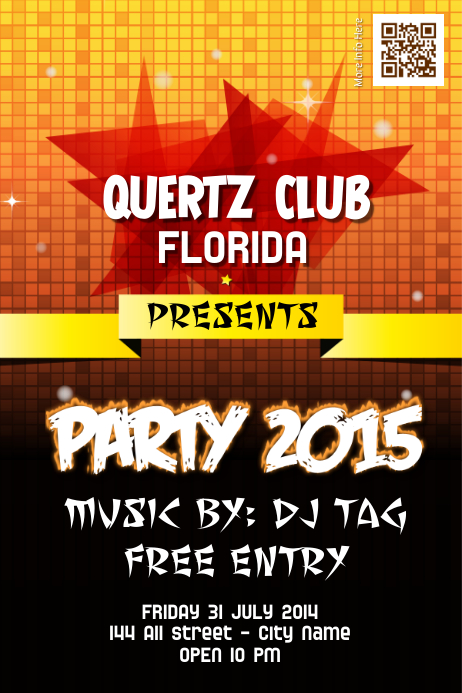 club promotion flyers