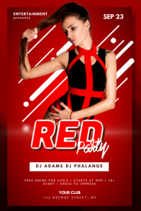 Club Red Party Flyer Template