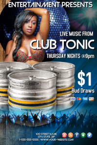 Club Tonic Beer Sale Template