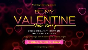 Club Valentine's Party Video Template