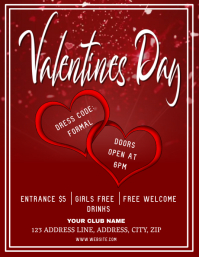 Club Valentines party Night ad Flyer Template