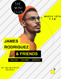 CLUBBING POSTER Flyer (format US Letter) template