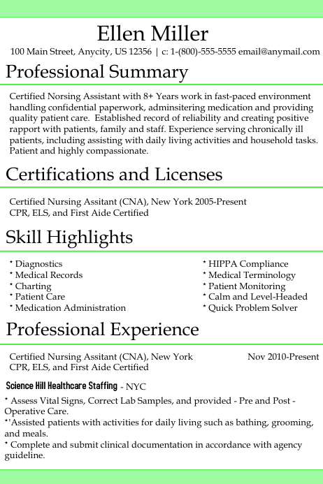 CNA Resume Template   PosterMyWall