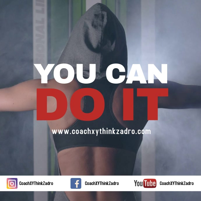 Coach Speaker Motivation Ispirator Advert Fitness Sport Publicação no Instagram template