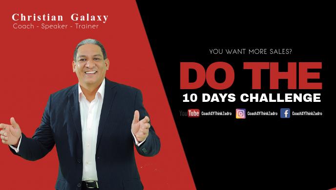 Coach Speaker Motivation Message Inspiration Personality Video Sampul Facebook (16:9) template