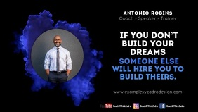 Coach Speaker Quotes Motivation Message Ad Facebook Cover Video (16:9) template