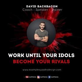 Coach Speaker Quotes Motivation Message Instagram Post template