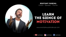 Coach Speaker Quotes Motivation Message Facebook Cover Video (16:9) template