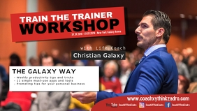 Coach Speaker Workshop Trainer Boss Motivational Business Facebook Cover Video (16:9) template