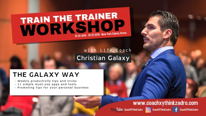 Coach Speaker Workshop Trainer Boss Motivational Business