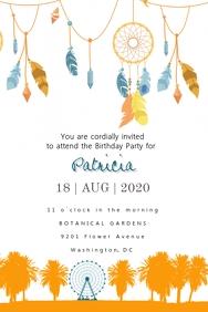 Coachella Birthday Invitation