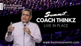 Coaching Network Marketing Congress Speaker Video copertina Facebook (16:9) template