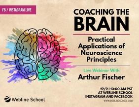 Coaching the Brain Neuroscience Live Webinar Volante (Carta US) template