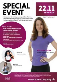 Coaching Workshop Flyer Speaker event Women A4 template