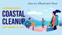 Coastal day,cleanup day,event Encabezado de blog template