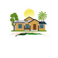 Coastline Home Art Design Templates Логотип