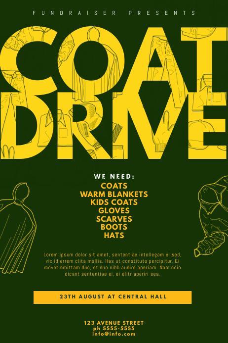 coat and blanket drive flyer