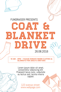 Coat and Blanket drive flyer template