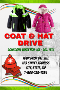 Perfect Coat And Hat Drive Templafe Ideas Clothing Drive Flyer Template
