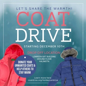 Coat Drive Charity Square Video template