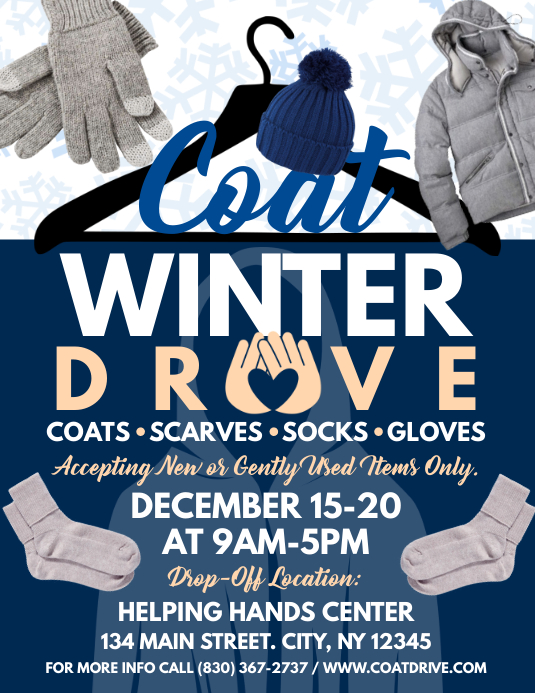 Coat Drive ใบปลิว (US Letter) template