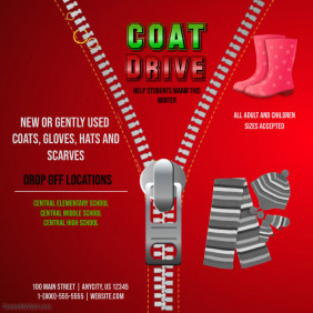 Customizable Design Templates For Coat Drive Postermywall