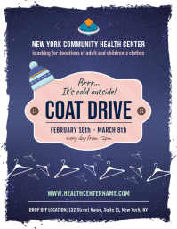 Coat Drive Fundraising Drive Flyer