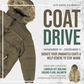 Coat Drive Fundraising Square Video