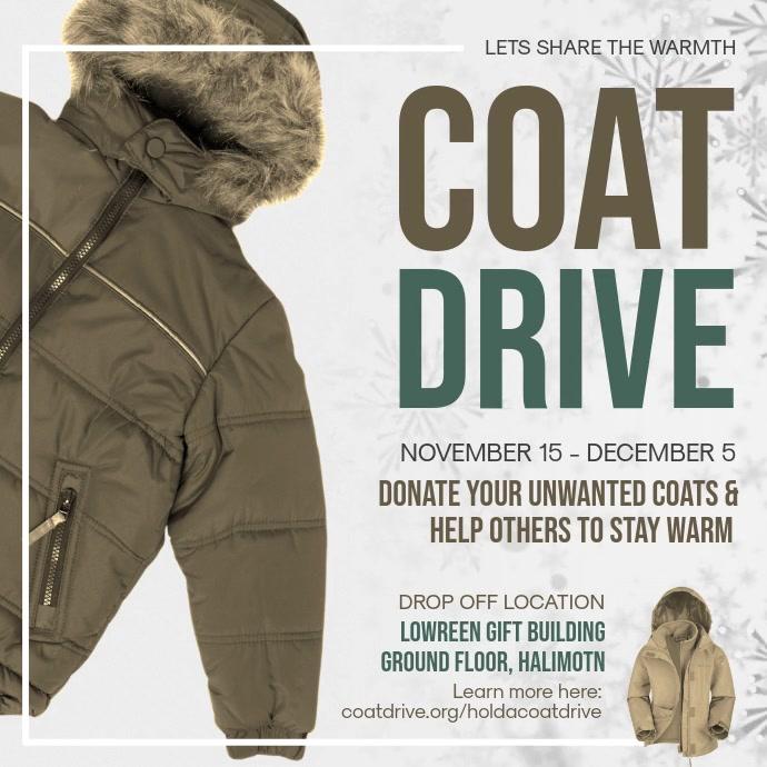 Coat Drive Fundraising Square Video template