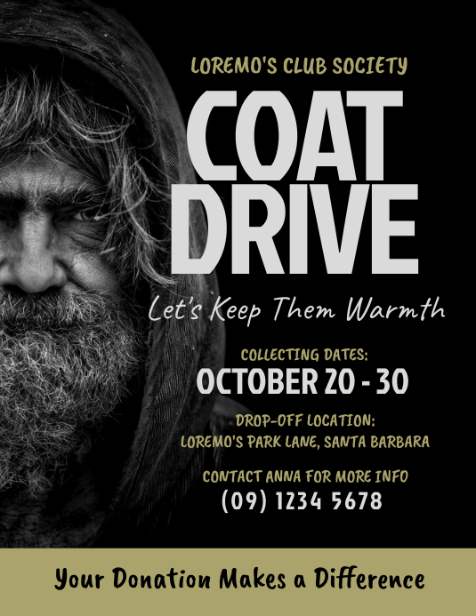 Coat Drive Flyer Template