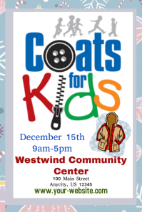 Customizable Design Templates for Winter Coat Drive Event Template ...